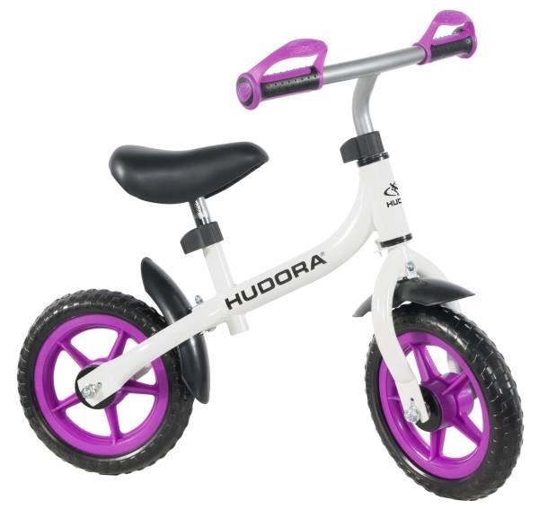 """Hudora   Laufrad Bikey 3.0 Girl, 10"""", weiß/lila   10715"""