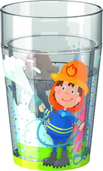 Haba | Glitzerbecher Feuerwehr