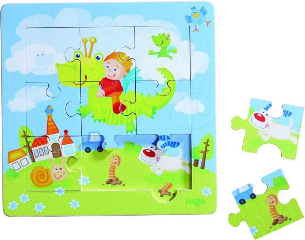 HABA | Holzrahmen-Puzzle Drachenritter | 301471