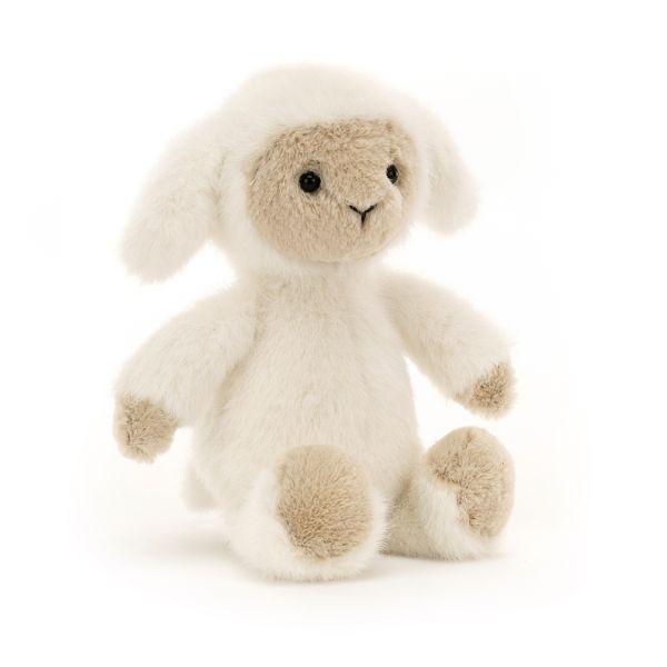 Lamm mit weißem Fell