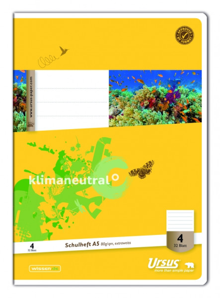 Ursus | Heft A5 | Lin4 | 32 Blatt | 040532004