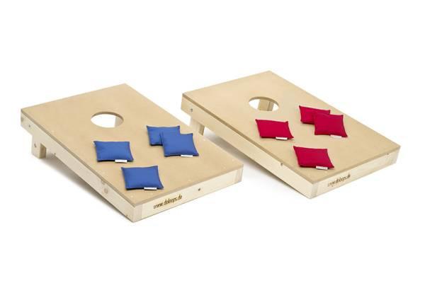 doloops | Original Cornhole Spielset | 2 Boards 8 Bags | Cornhole Turnierset