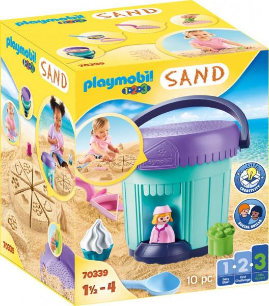 PLAYMOBIL® 1.2.3 / Sand | Kreativset Sandbäckerei | 70339