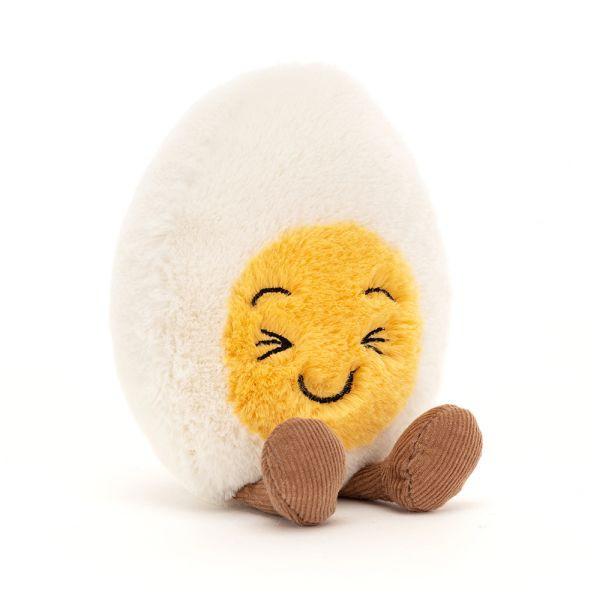 Lachendes, festkochendes Ei