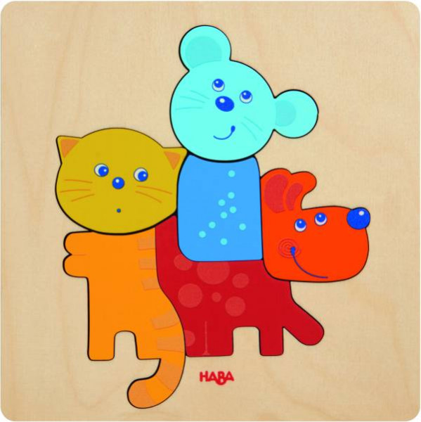 Haba   Holzpuzzle Haustiere