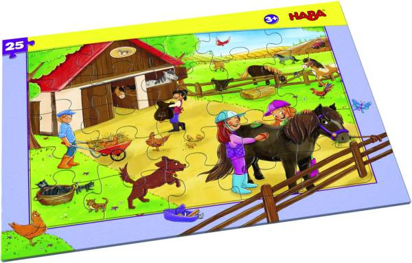 Haba   Rahmenpuzzle Pferdehof