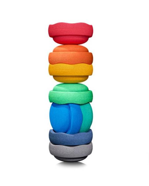 Stapelstein | COLORS | Set-8 | grey/night blue/blue/green/light green/yellow/orange/red