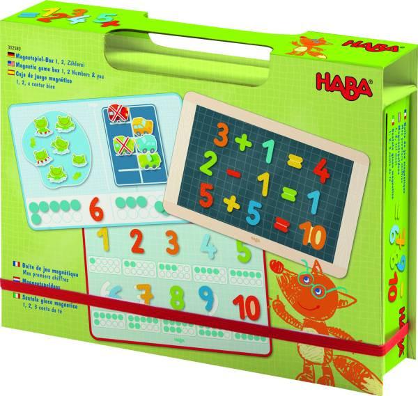 Haba | Magnetspiel-Box 1, 2, Zählerei