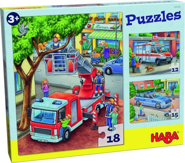 Haba | Puzzles Polizei, Feuerwehr & Co.